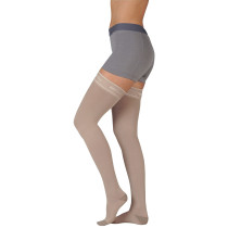 Juzo Naturally Sheer Thigh High Compression Stockings CLOSED TOE 30-40 mmHg
