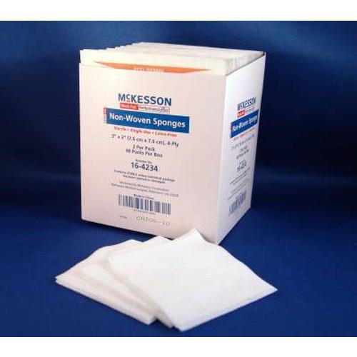 McKesson 16-4234 Non-Woven Sponges 3x3 Inch 4 Ply Sterile