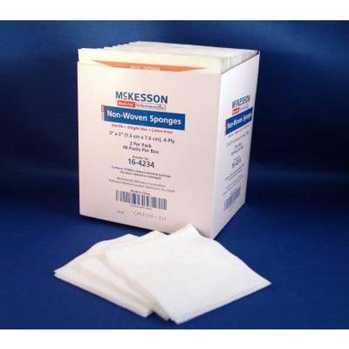 Medi-Pak 3 x 3 Inch Non-Woven Sponges 4 Ply, Sterile - 16-4234