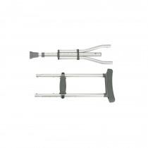 Drive Adjustable Aluminum Crutches Knock Down