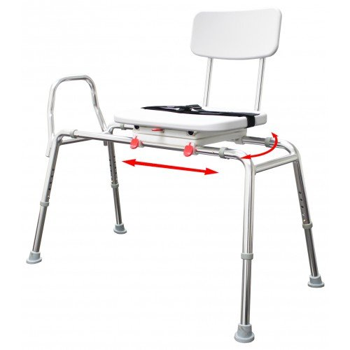 Snap N Save Molded Transfer Bench 77662 with Swivel Seat and Back