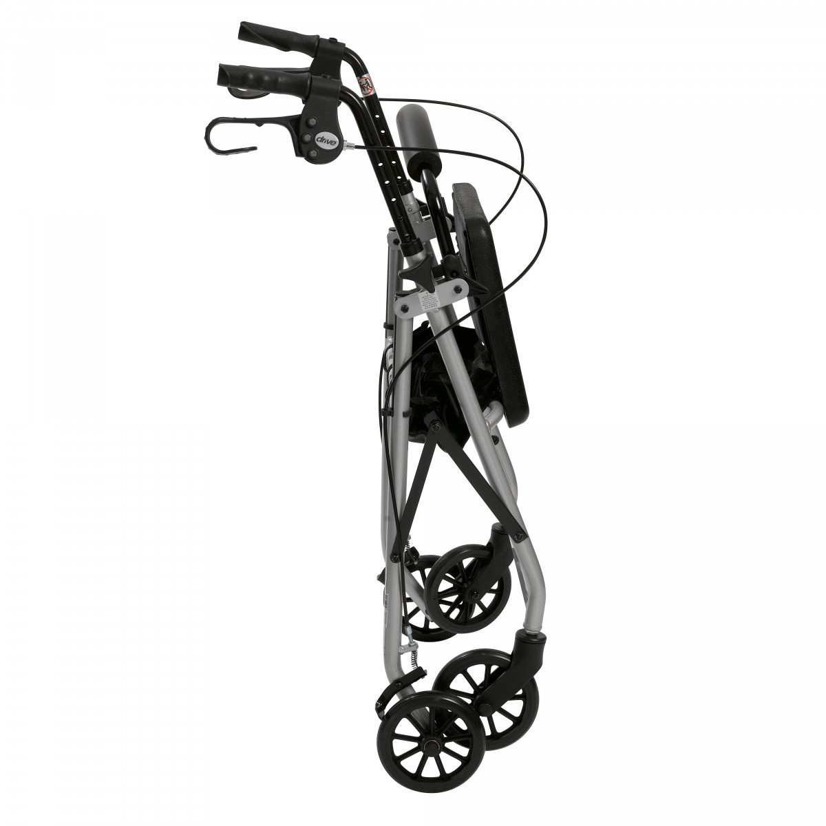 lightweight rollator with fold up and removable back support by drive f3d