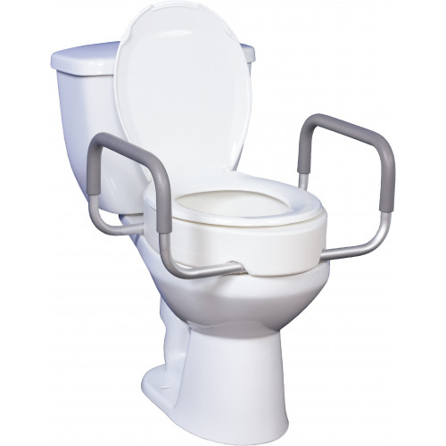 Drive Toilet Seat Riser with Removable Arms