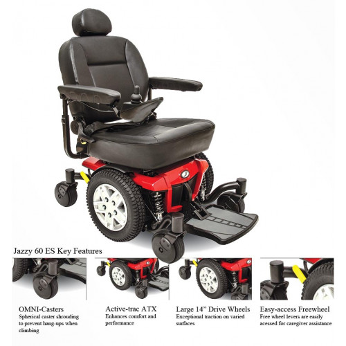 Jazzy 600 ES Power Wheelchair | FDA Class II Medical Device*