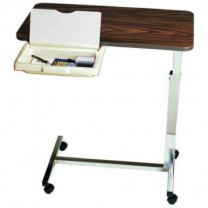 Automatic Long Term Care Overbed Table, Walnut- 1010H