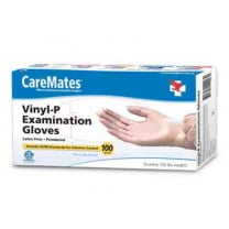 CareMates Vinyl Exam Gloves Powder Free - NonSterile