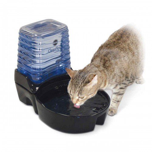 CleanFlow Cat Ceramic Fountain with Reservoir