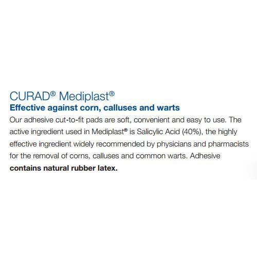 curad mediplast corn wart callus remover 53b