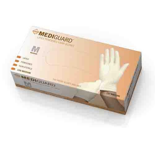 Mediguard Latex Exam Gloves Powdered - NonSterile