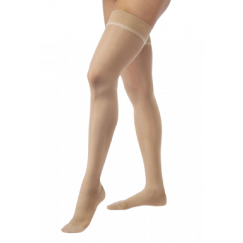 Jobst Ultrasheer Thigh High Compression Socks w/ Lace Silicone Top Band 15-20 mmHg