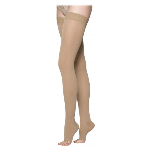 Sigvaris 230 Cotton Series Thigh High Compression Stockings - 232N OPEN TOE 20-30 mmHg