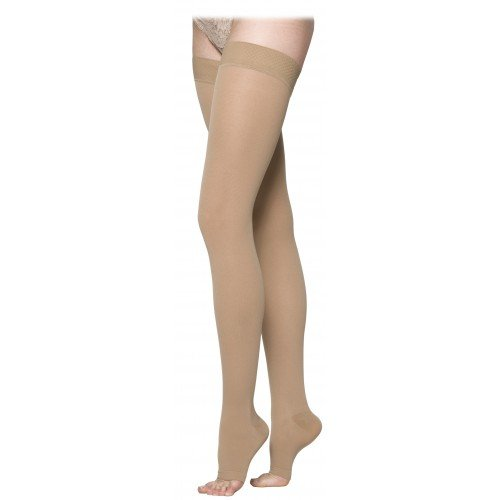 Sigvaris 230 Cotton Series Thigh High Compression Stockings - 233N OPEN TOE 30-40 mmHg