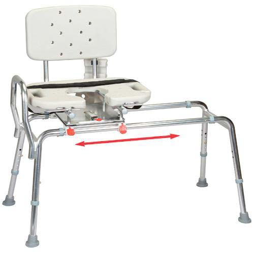 Transfer Bench with Back Cut-Out Molded Swivel Seat - X-Long