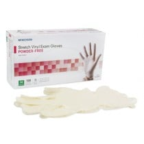 McKesson Stretch Powder Free Vinyl Exam Gloves  - NonSterile