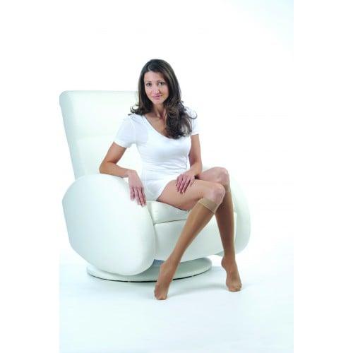 LEGLINE Sheer Compression Stockings Knee High OPEN TOE 20-30 mmHg