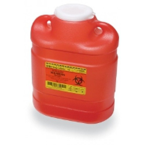 6.9 Quart Red BD Sharps Container with Regular Funnel Entry 305489