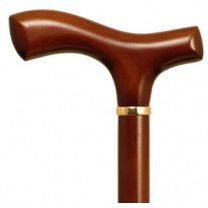 Mountain Properties Light Brown Beechwood Cane with Fritz Handle