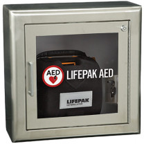 Stainless Steel Surface-Mount AED Cabinet with Alarm