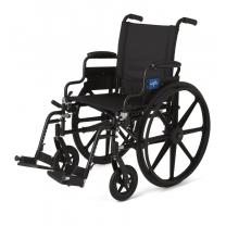 Medline Premium Ultra-Lightweight Wheelchair with Swing-Back Desk-Length Arms