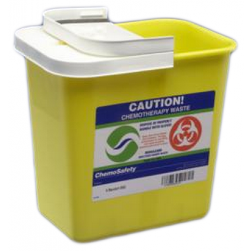 Kendall SharpSafety Chemotherapy Sharps Containers 8 Gallon