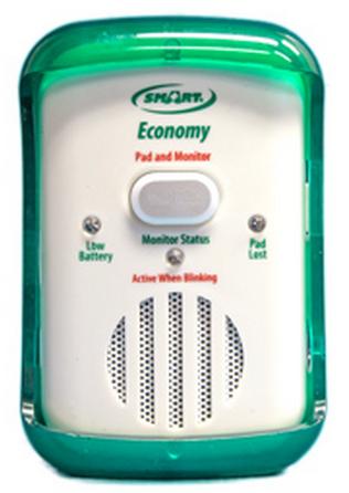 fallguard economy alarm with bed alarm sensor pad 9d5