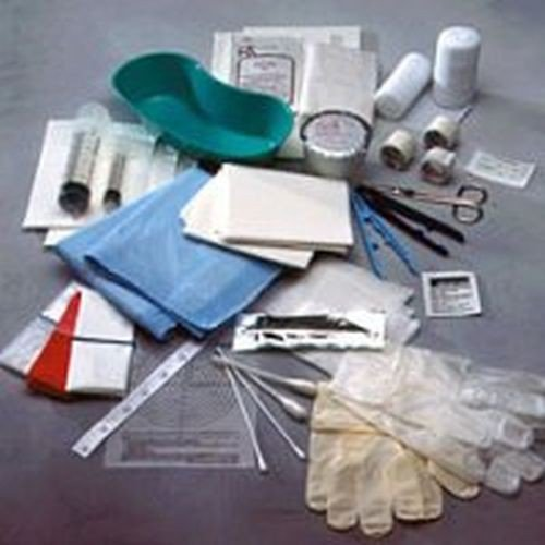 Debridement Kit with Scissors, Scapel and Gloves