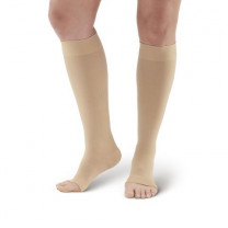 AW Style 291OT Luxury Opaque Open Toe Knee Highs - 20-30 mmHg