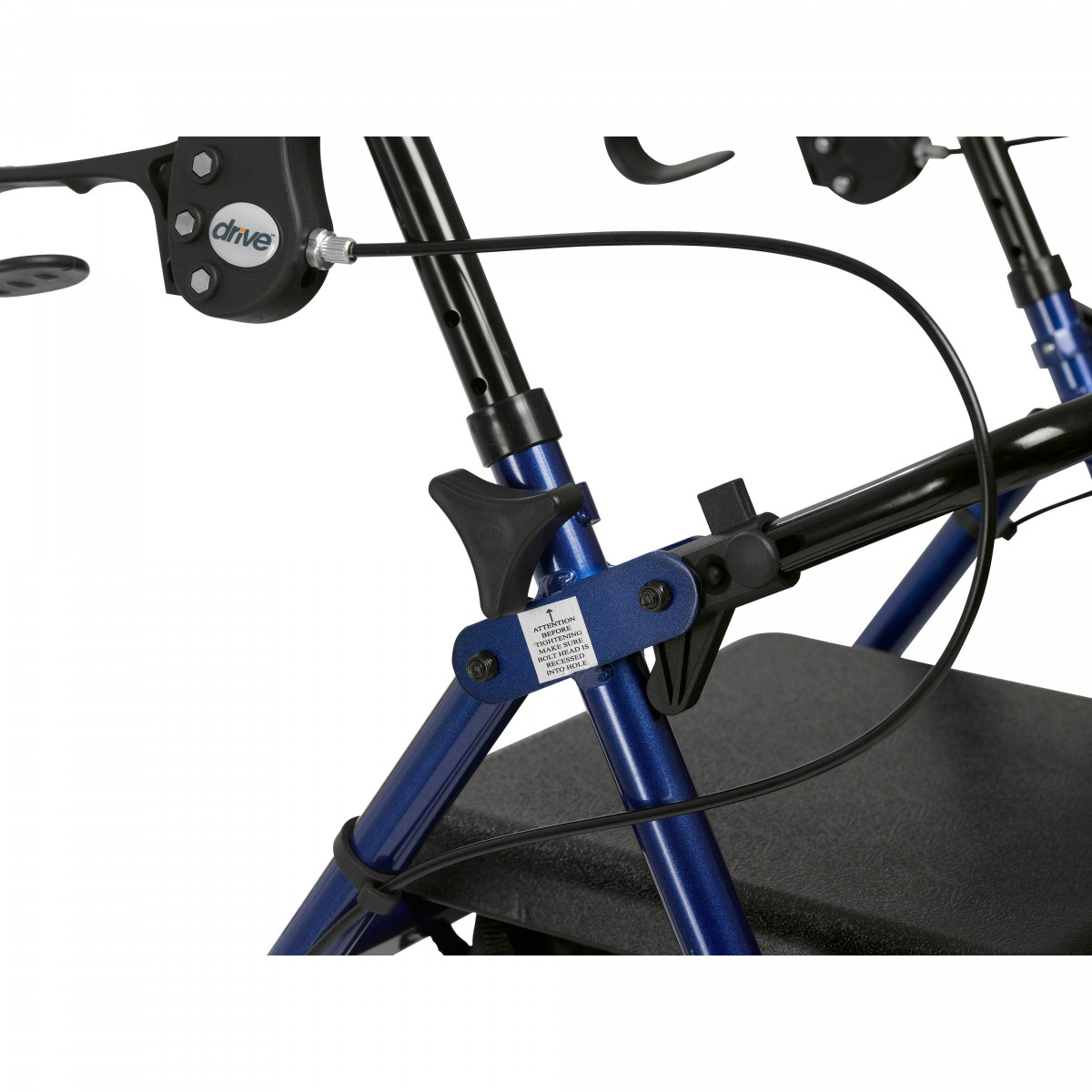 lightweight rollator with fold up and removable back support by drive 0dc