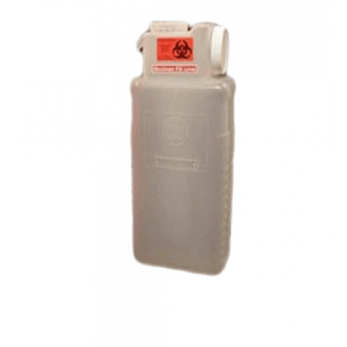 2.5 Gallon Clear Sharps Container with Locking Screw Cap 1101-LPBW