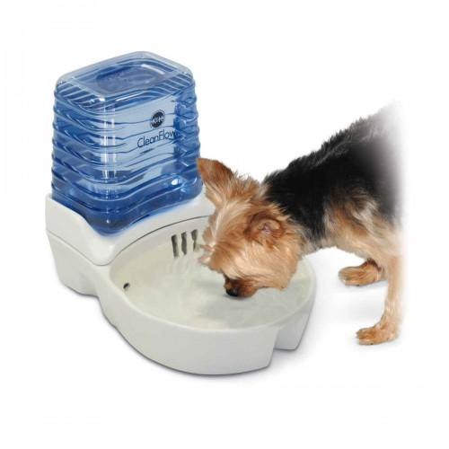 CleanFlow Dog Ceramic Fountain with Reservoir