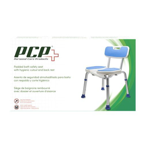 Personal Care Products Padded Bath Safety Seat w/ Hygienic Cutout