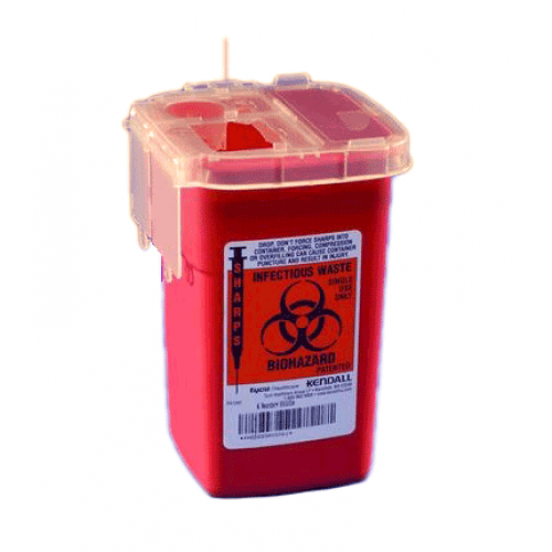 1 Quart Red Sharpsafety Sharps Container for Phlebotomy 8900SA