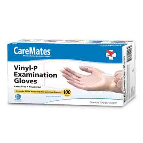 CareMates Vinyl Exam Gloves Powdered - Sterile