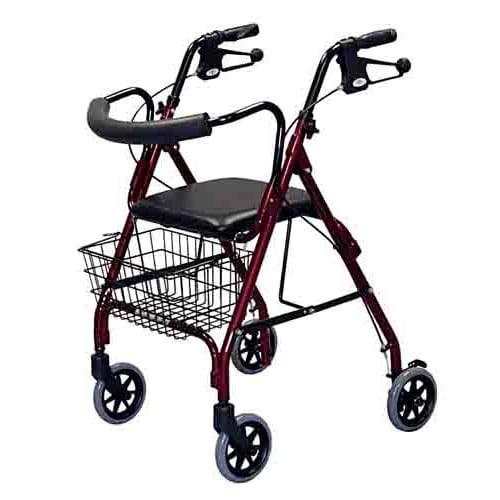 "Deluxe Rollator w/ 6"" Wheels - Medline"