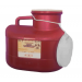 12 Quart Red Medi-Pak Sharps Disposal Container with Vertical Entry Lid 101-186W