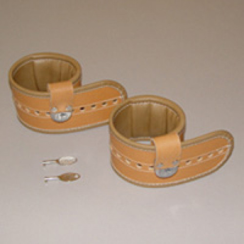 Posey Synthetic Leather Locking Cuffs