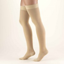 TRUFORM Classic Medical Thigh High Silicone Dot Stay-Up Top CLOSED TOE 30-40 mmHg