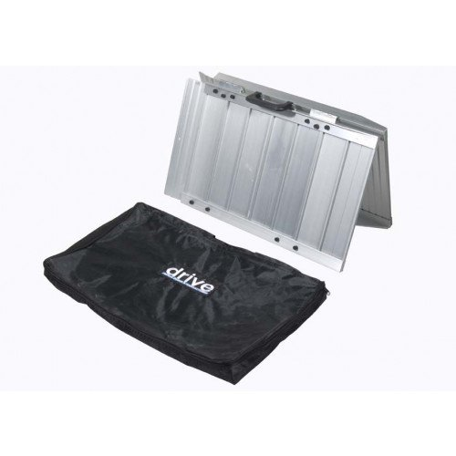 Portable Wheelchair Scooter Ramp Single Fold with Carry Handle and Travel Bag