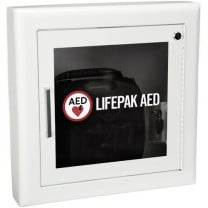 Semi-Recessed AED Cabinet with Alarm