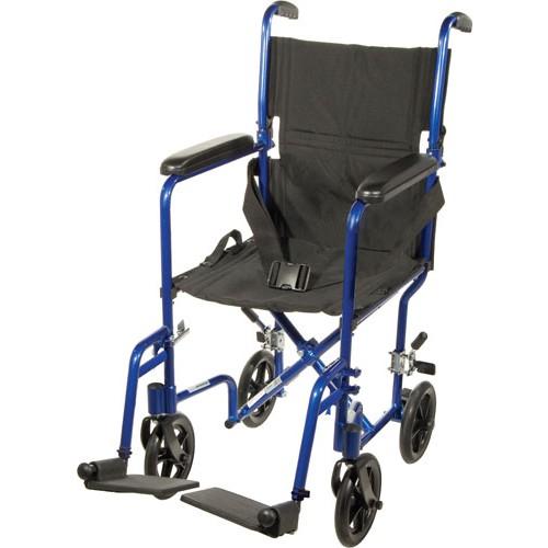 Transport Chair Lightweight Aluminum 17 Inch
