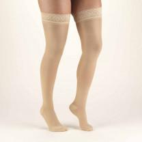 TRUFORM Women's TruSheer Thigh High Silicone Top Band 30-40 mmHg