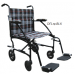 19 Inch Fly-Lite Aluminum Transport Chair Black