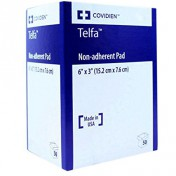 TELFA Ouchless 1169 | 3 x 6 Inch Non Adherent Pad by Covidien