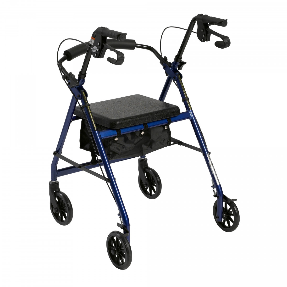 lightweight rollator with fold up and removable back support by drive dfa