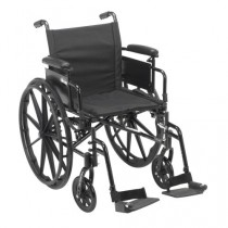 Cruiser X4 Lightweight Dual Axle Wheelchair with Adjustable Detatchable Arms