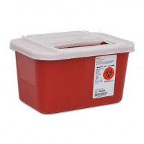 1 Gallon Red Sharps-A-Gator Sharps Container with Slide Lid 31143699
