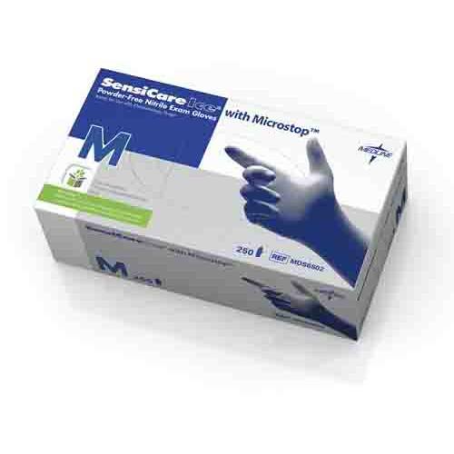 SensiCare Ice Blue Nitrile Exam Gloves