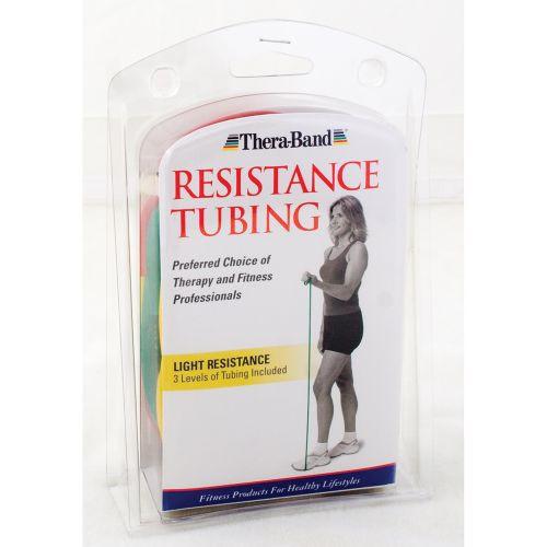 TheraBand Assorted Exercise Tubing 5 Feet, Light