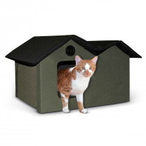 Unheated Outdoor Kitty House Extra Wide