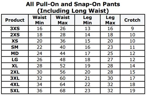 Gary Comfort Pants W Polyurethane Laminate Pul Gcppx Xl